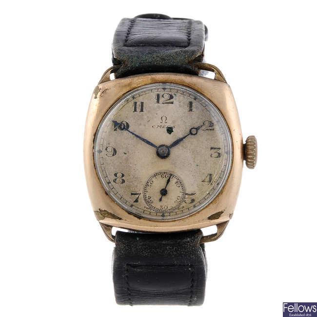 OMEGA - a gentleman's gold plated wrist watch