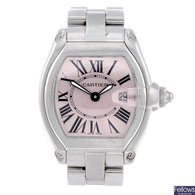 CARTIER - a stainless steel Roadster bracelet watch.