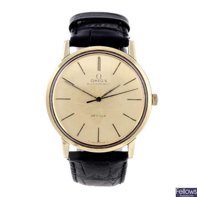OMEGA - a gentleman's gold plated De Ville wrist watch.