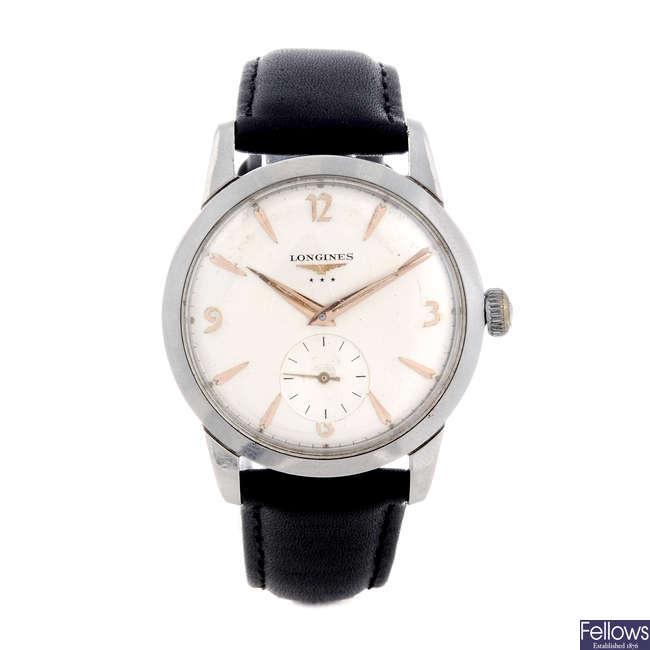 LONGINES - a gentleman's base metal wrist watch.