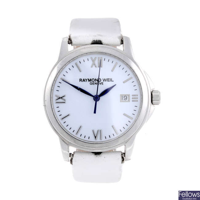 RAYMOND WEIL - a mid-size stainless steel Tradition Special Edition Mapfre 75 wrist watch.