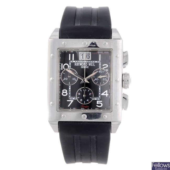 RAYMOND WEIL - a gentleman's stainless steel Tango chronograph wrist watch.
