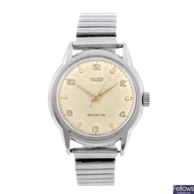 TISSOT - a gentleman's Seastar bracelet watch together with a gentleman's bracelet watch.