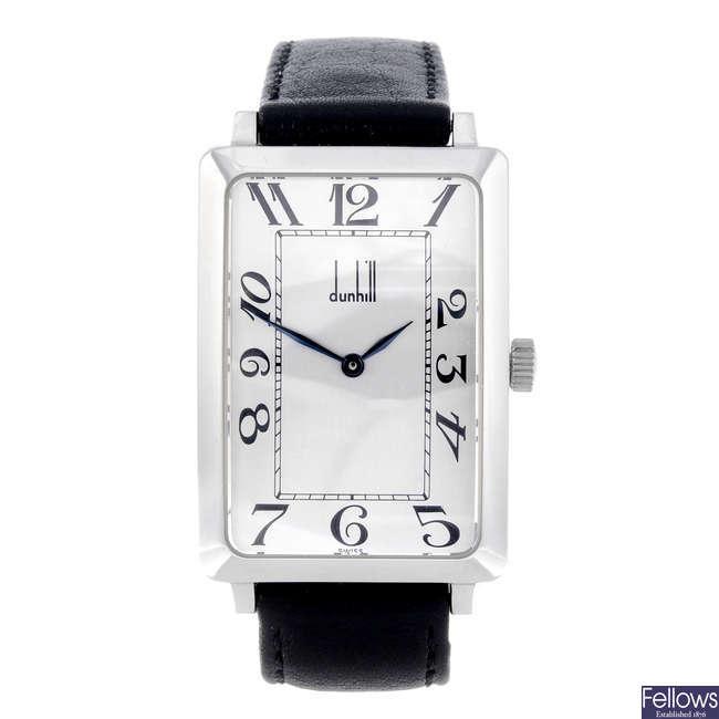 DUNHILL - a gentleman's stainless steel wrist watch.