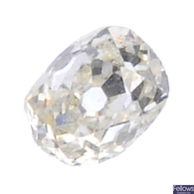 An old-cut diamond, weighing 0.37ct.