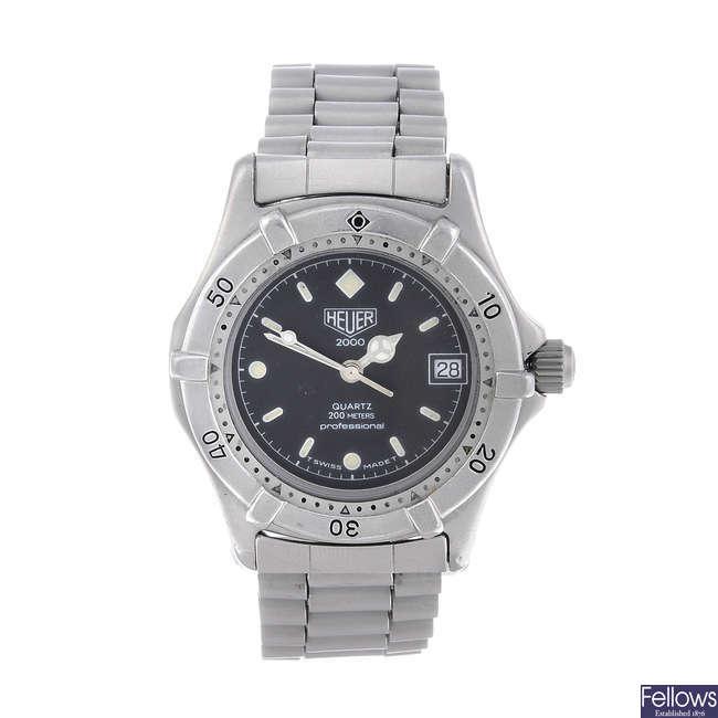 HEUER - a mid-size stainless steel 2000 Series bracelet watch.