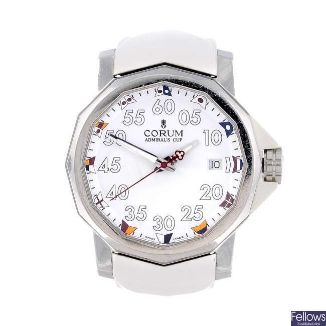 CORUM - a gentleman's stainless steel Admiral's Cup 40 wrist watch.