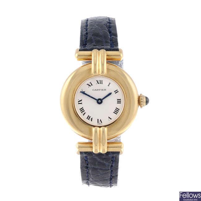 CARTIER - an 18ct yellow gold Rivoli wrist watch.