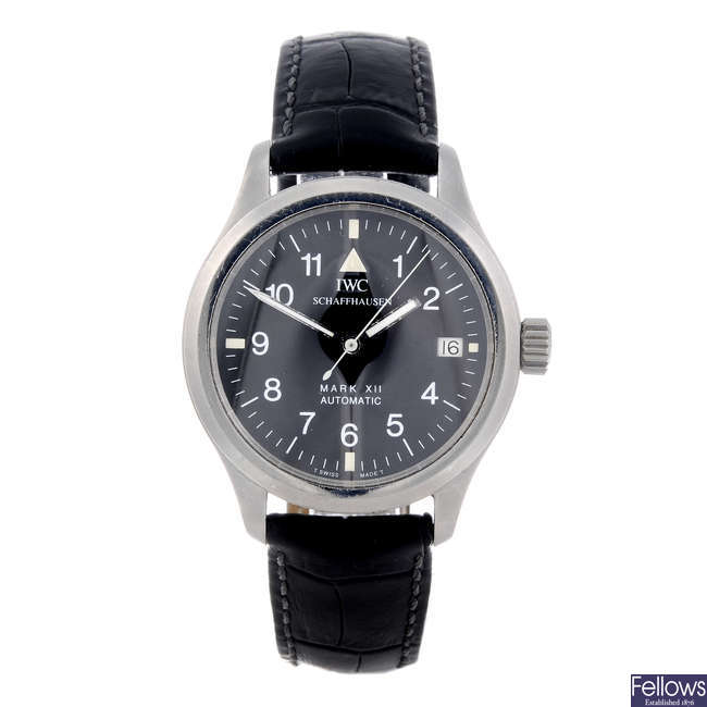 IWC - a gentleman's stainless steel Fliegeruhr Mark XII wrist watch.