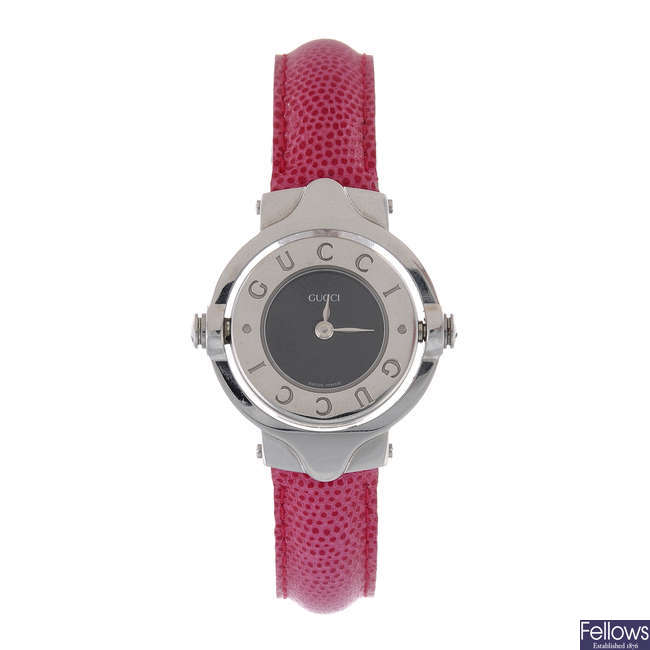GUCCI - a lady's stainless steel wrist watch with a lady's Philipe Charriol watch.