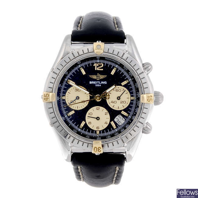 BREITLING - a gentleman's stainless steel Chrono Cockpit chronograph wrist watch.