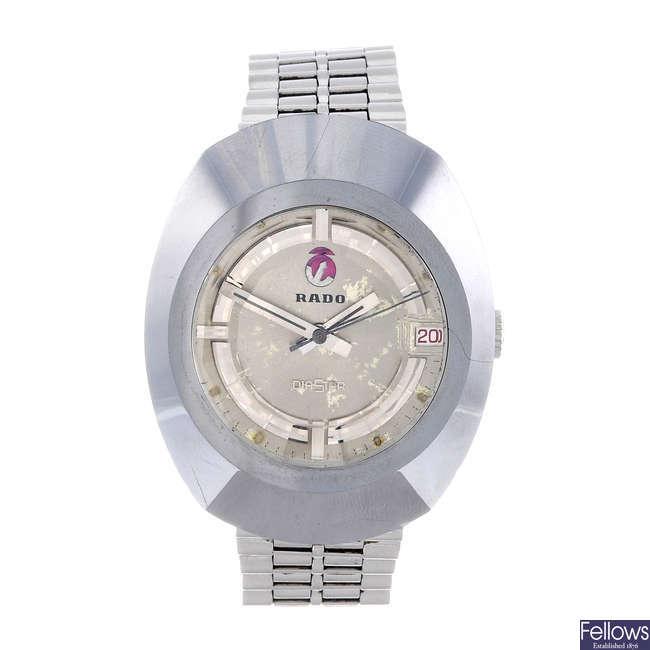 RADO - a gentleman's bi-metal Diastar bracelet watch.