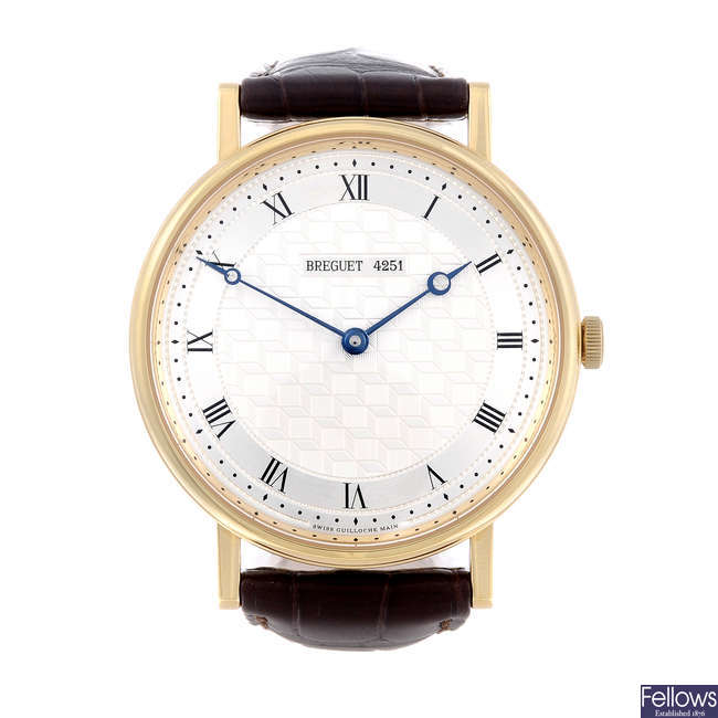 BREGUET - a gentleman's 18ct yellow gold Classique wrist watch.