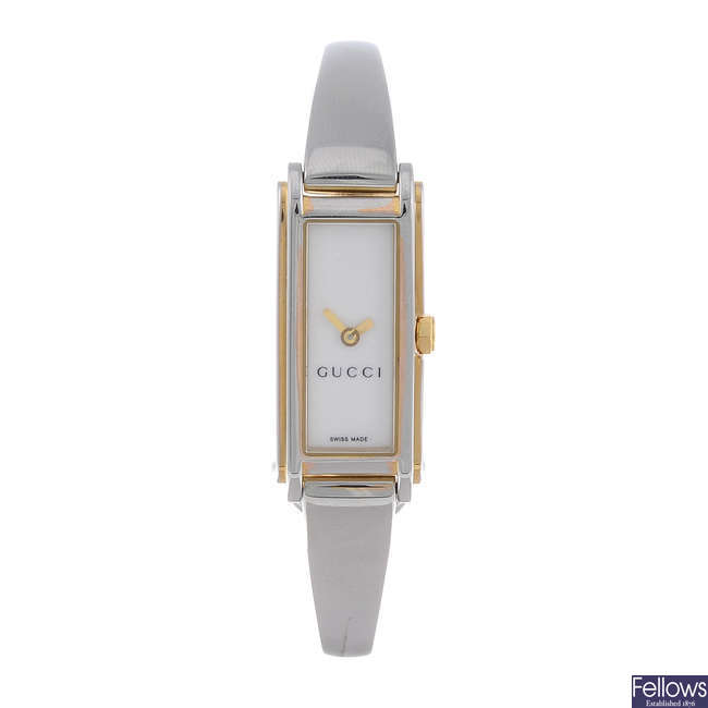 GUCCI - a lady's stainless steel 109 bracelet watch with a Gucci 3400L bracelet watch.