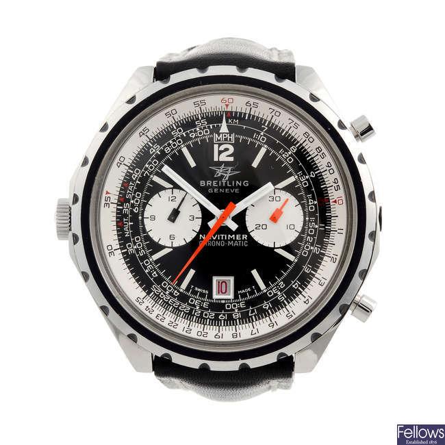 BREITLING - a gentleman's stainless steel Navitimer Chrono-Matic chronograph wrist watch.