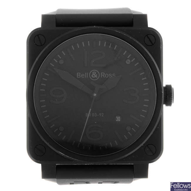 BELL & ROSS - a gentleman's stainless steel Aviation wrist watch.