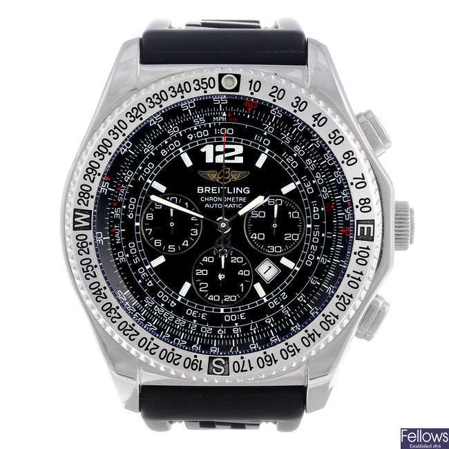 BREITLING - a gentleman's stainless steel B2 chronograph wrist watch.