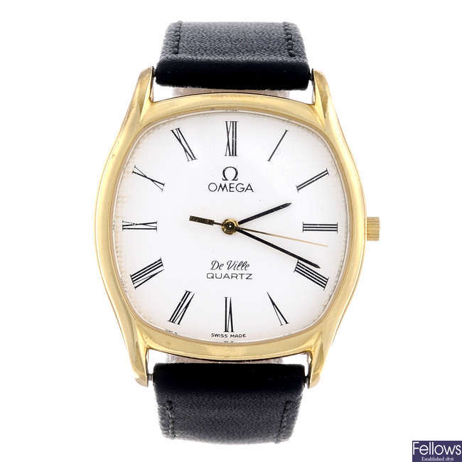 4f8398c8a0c OMEGA - a gentleman s gold plated De Ville wrist watch with a Smiths wrist  watch.