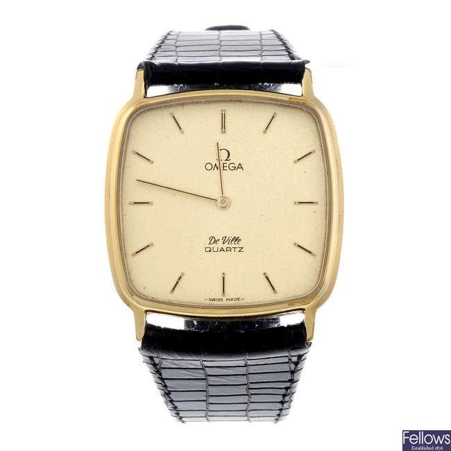OMEGA - a gentleman's yellow metal De Ville wrist watch