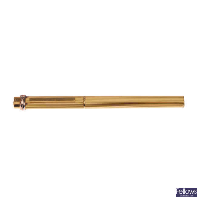 CARTIER - a Vendome ballpoint pen.