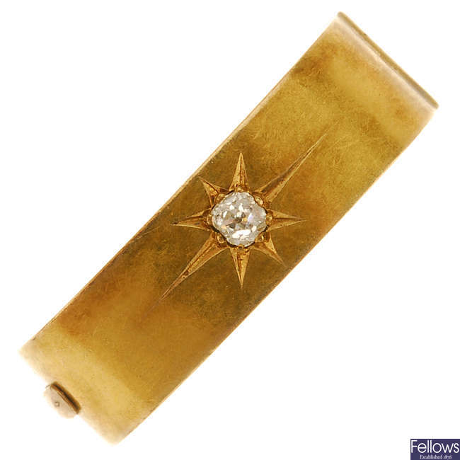 A late 19th century diamond clip.