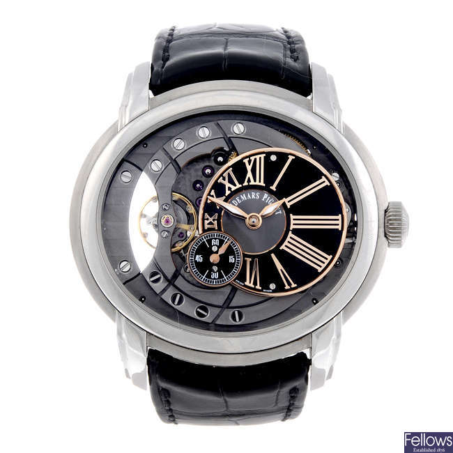 AUDEMARS PIGUET - a gentleman's stainless steel Millenary wrist watch.