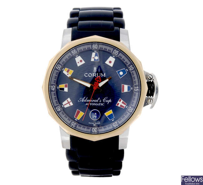 CORUM - a gentleman's bi-metal Admiral'S Cup Trophy wrist watch.