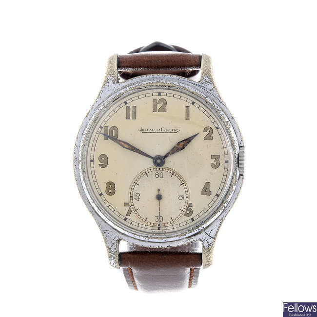 JAEGER-LECOULTRE - a gentleman's nickel plated wrist watch.