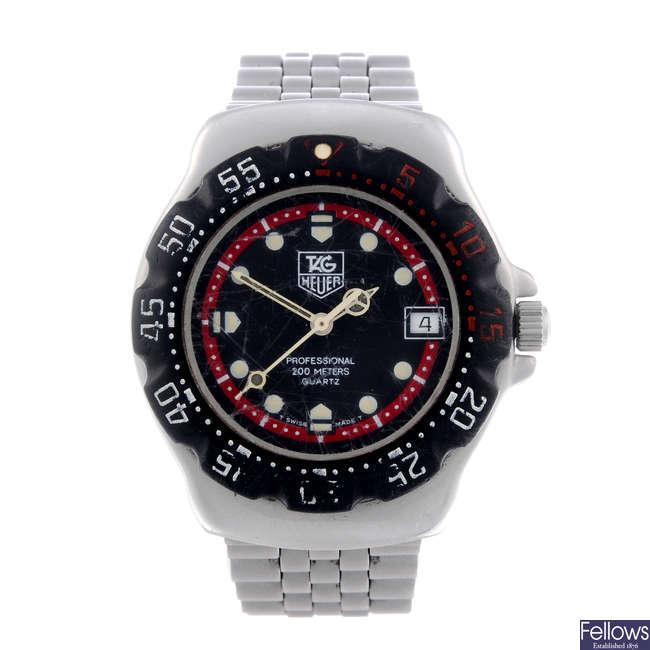 TAG HEUER - a gentleman's stainless steel Formula 1 bracelet watch.