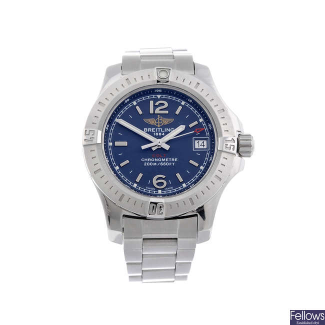 BREITLING - a lady's stainless steel Colt bracelet watch.