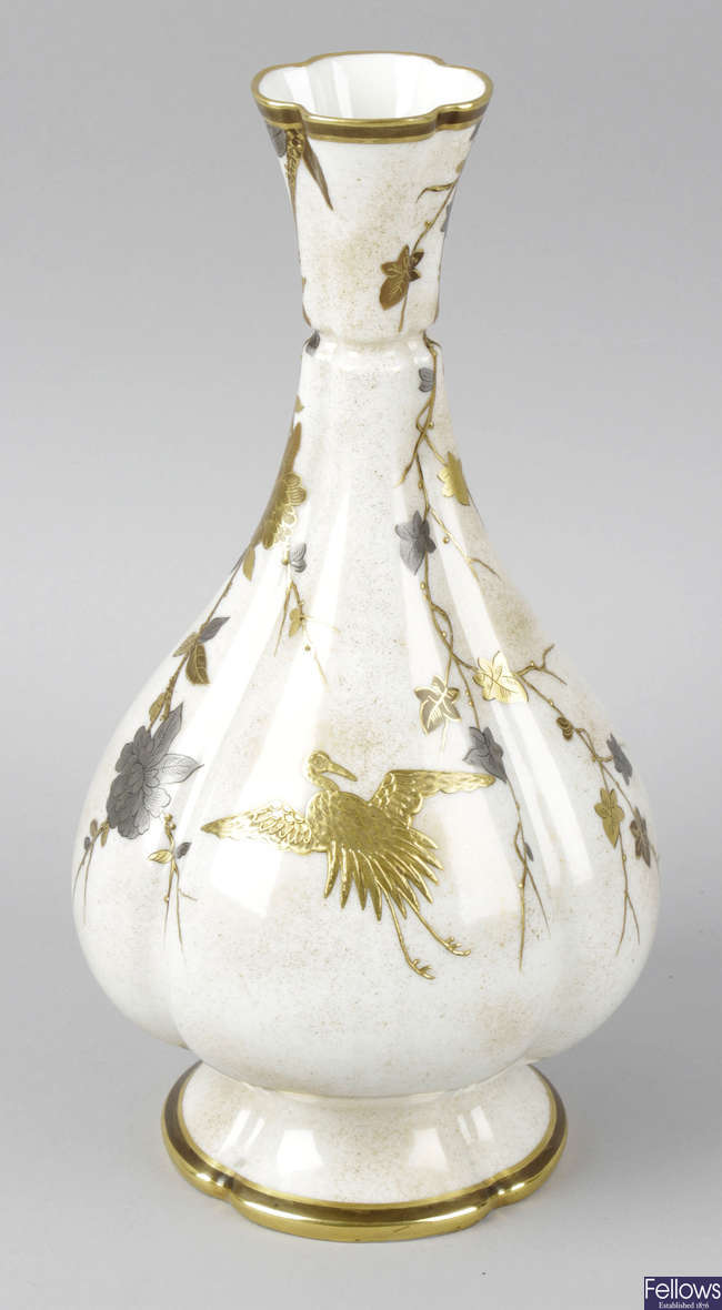A Victorian Royal Worcester Aesthetic period vase