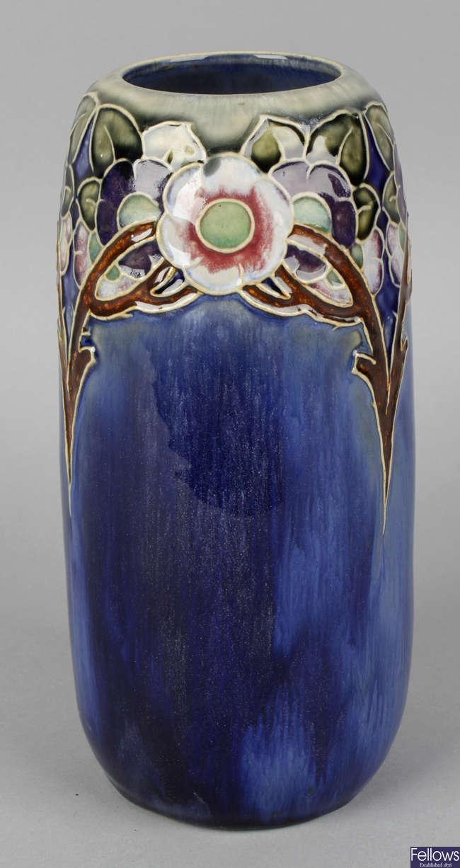 A Royal Doulton stoneware vase.