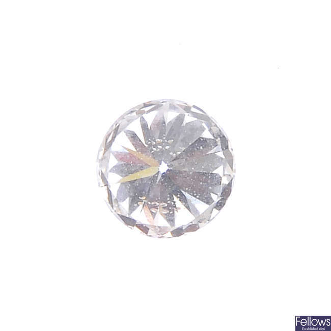 A brilliant-cut diamond, weighing 0.50ct.