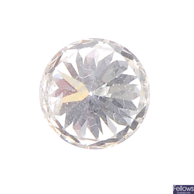 A brilliant-cut diamond, weighing 0.33ct.