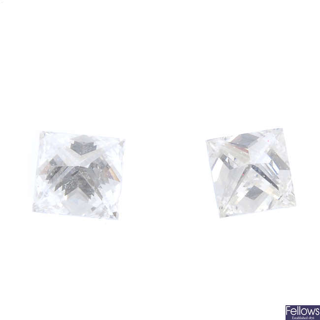 Two square-shape diamonds.