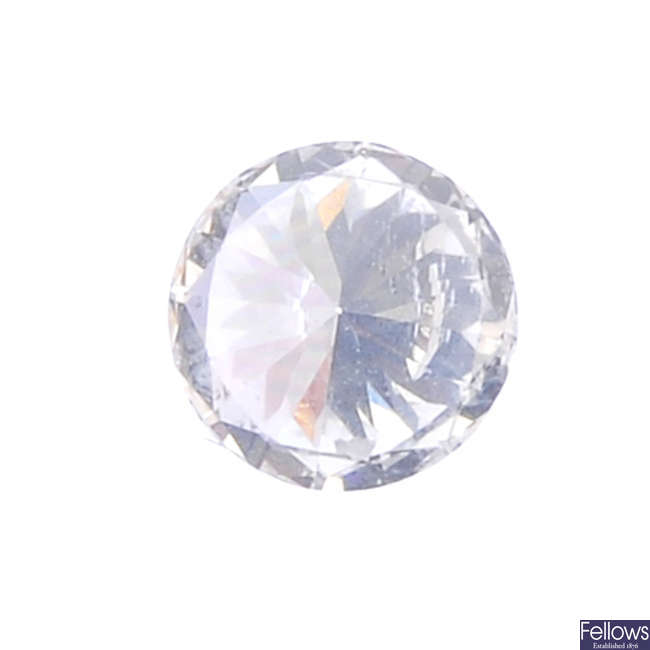A brilliant-cut diamond, weighing 0.34ct.