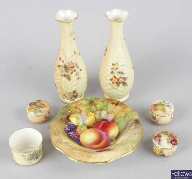 A group of Royal Worcester porcelain