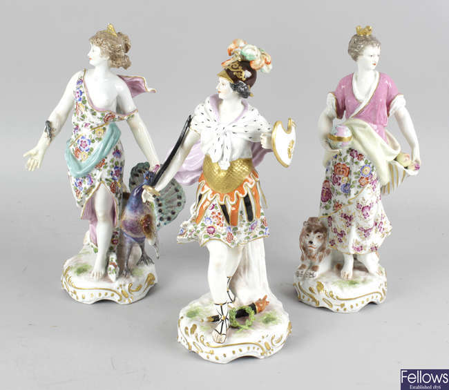 A group of four 19th Century German figurines.