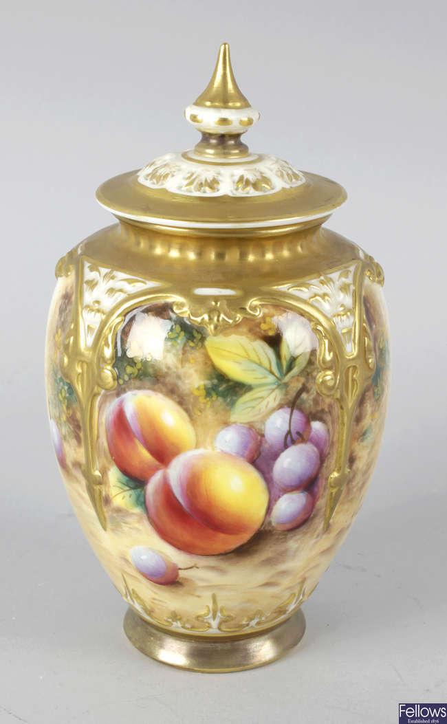 A Royal Worcester bone china vase.