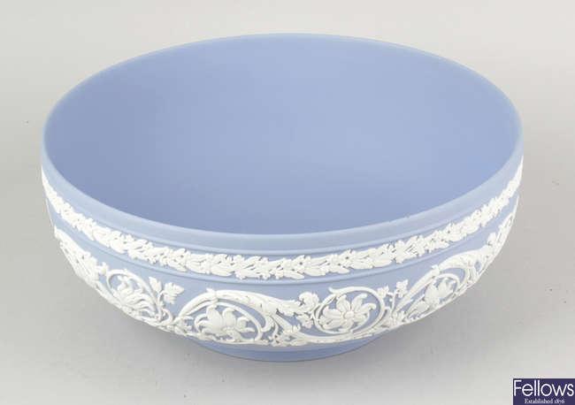 A Wedgwood blue jasperware bowl of Australian interest.
