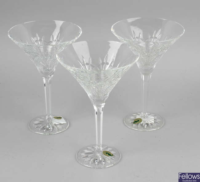 A group of assorted glassware.