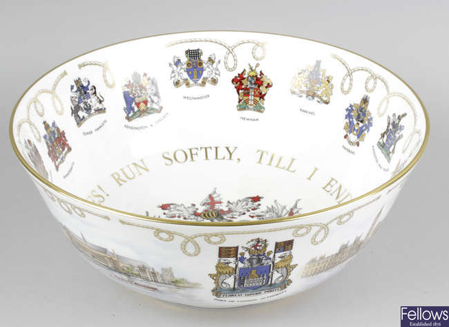A Wedgwood limited edition 'The London Thames Bowl'.