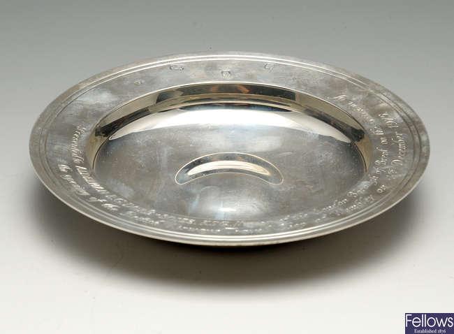 A modern silver Armada dish.