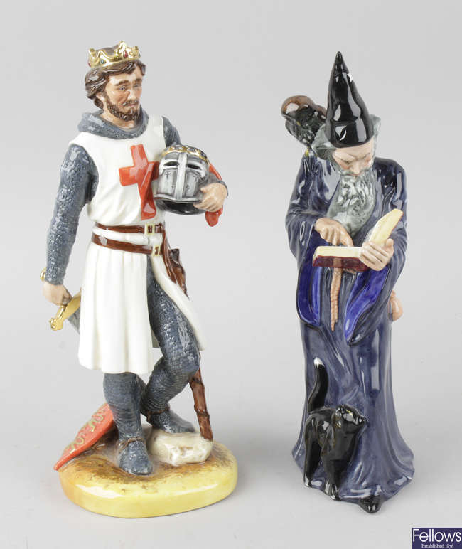 Two Royal Doulton figurines.