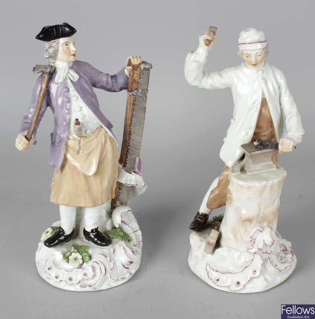 Two 18th century porcelain figures