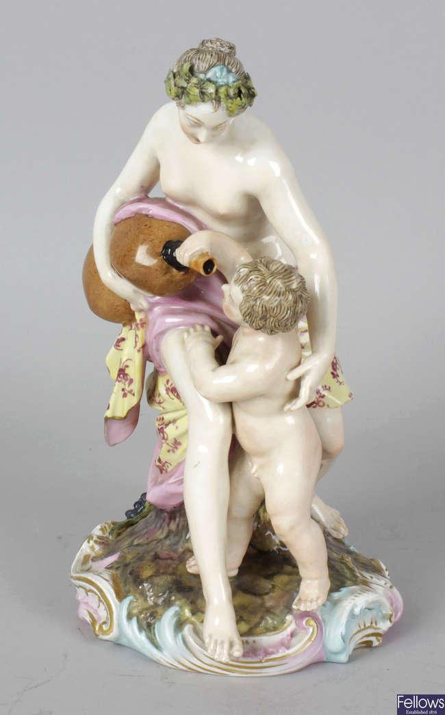 A 19th century German (Berlin) porcelain figure group