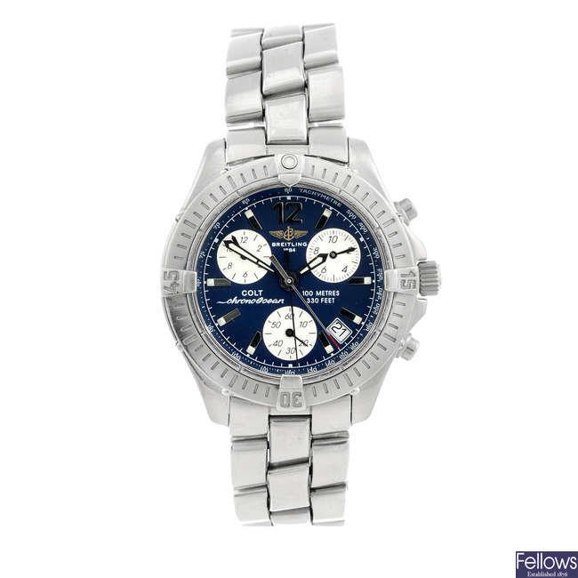 BREITLING - a gentleman's stainless steel Chrono Colt Ocean chronograph bracelet watch.