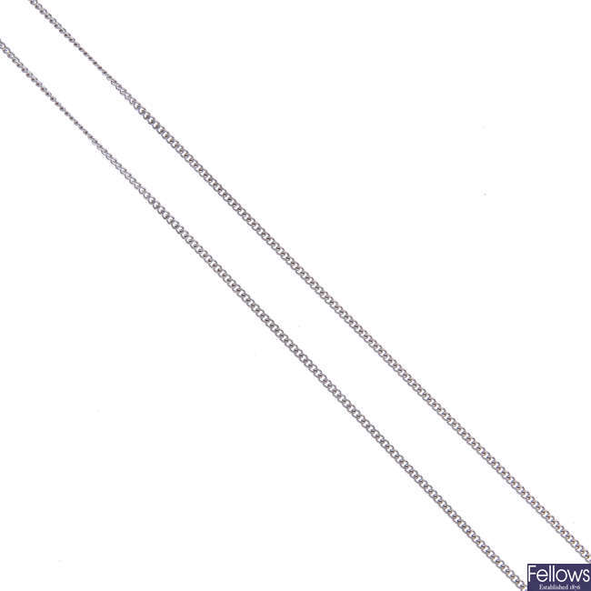 An 18ct gold curb-link necklace.