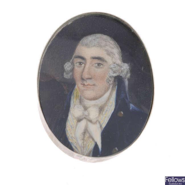 A portrait miniature.