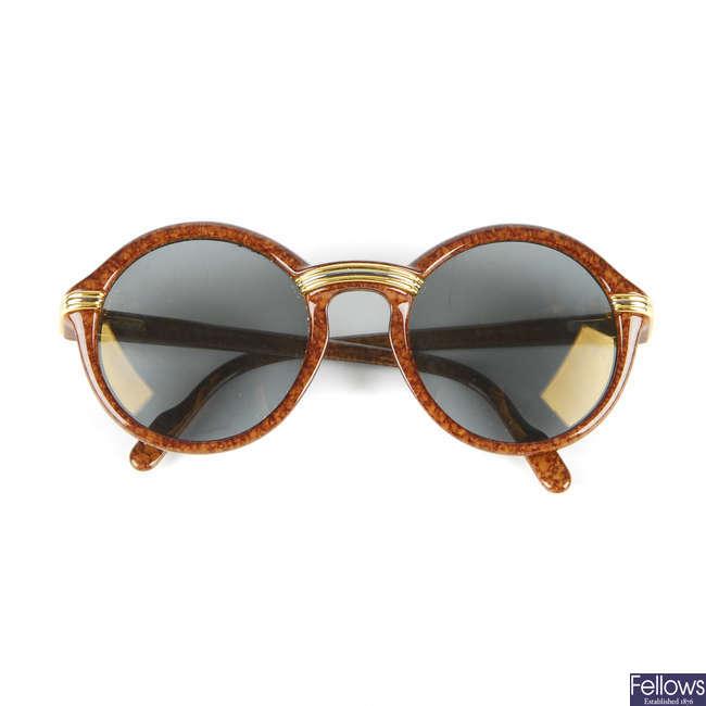 CARTIER - a pair of Cabriolet sunglasses.
